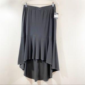 Clara Sunwoo Gray High/Low Pull On Skirt NWT Sz L